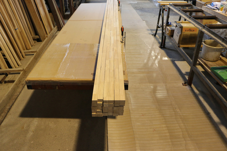 木材を裁断した状態©キハラ株式会社