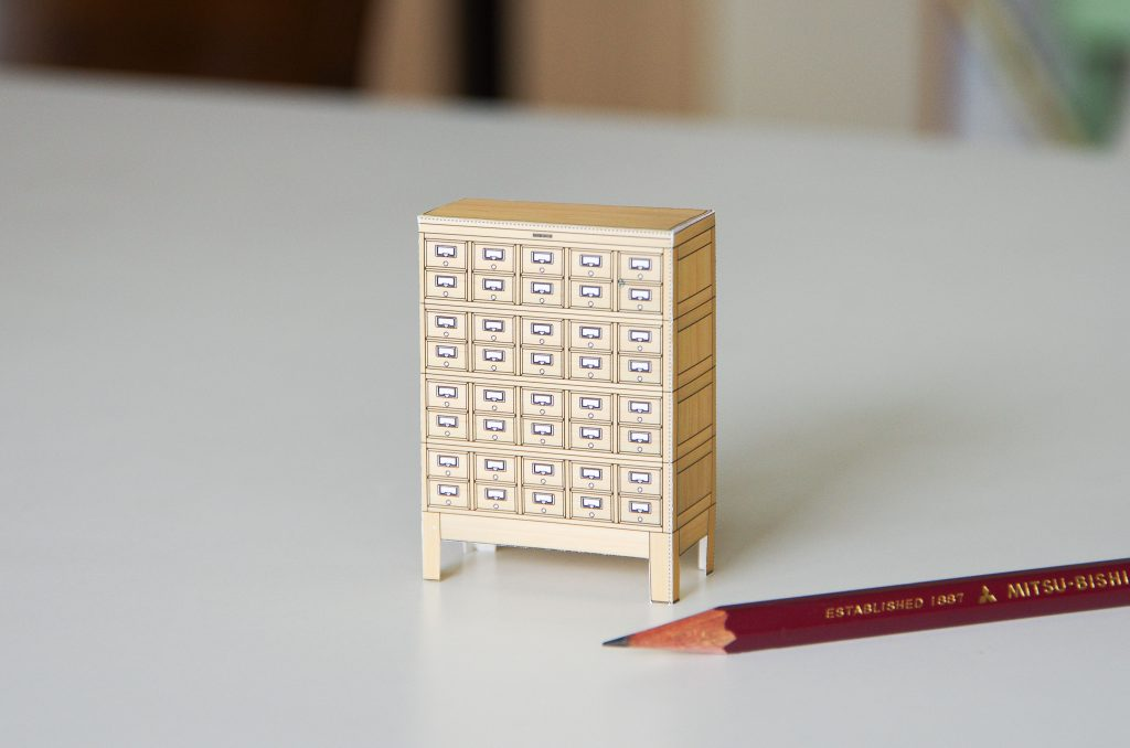 木製カードケース ペーパークラフト ©キハラ株式会社
