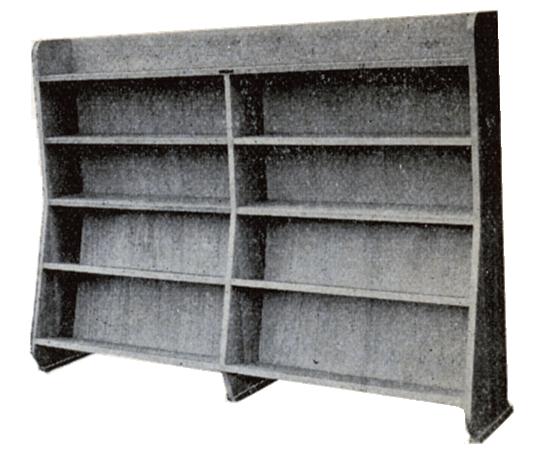 傾斜式書架 小、中用 ©キハラ株式会社