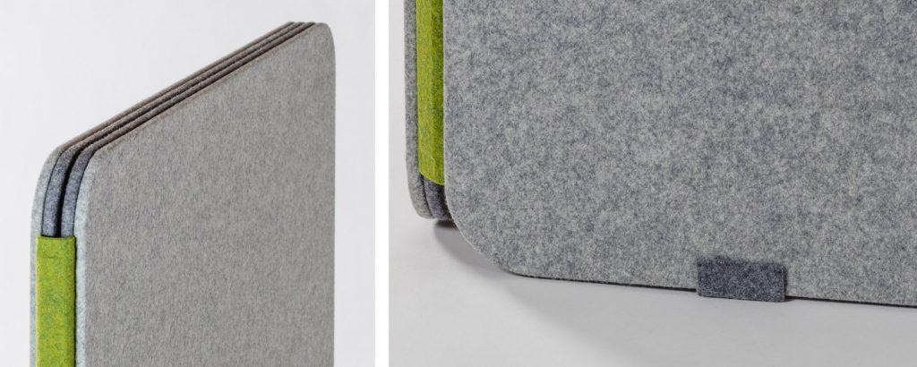 リブスクリーン折り畳み・脚端金具 ©キハラ株式会社