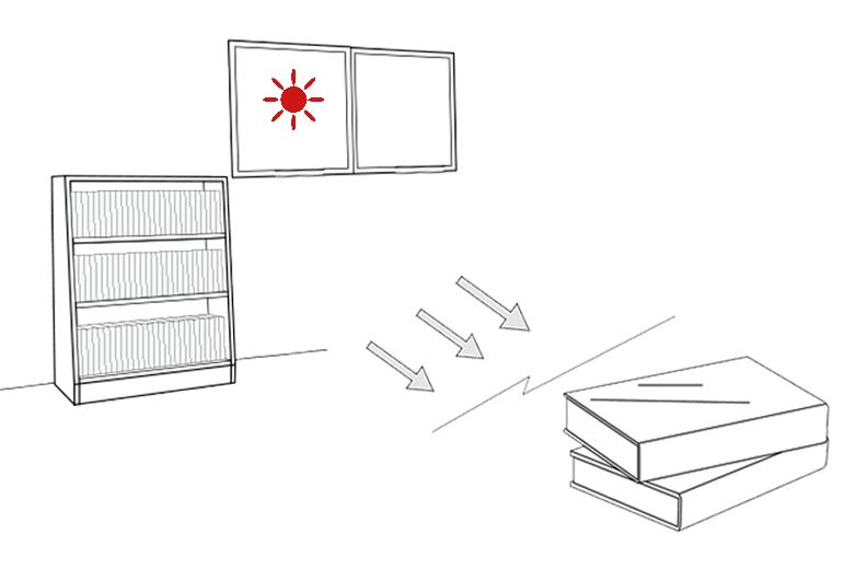 紫外線から資料を守る©キハラ株式会社